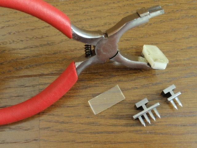 菱目打ち 2本目 4本目 交換可能 菱目打ち(4mm間隔)パンチ レザークラフト革 工具