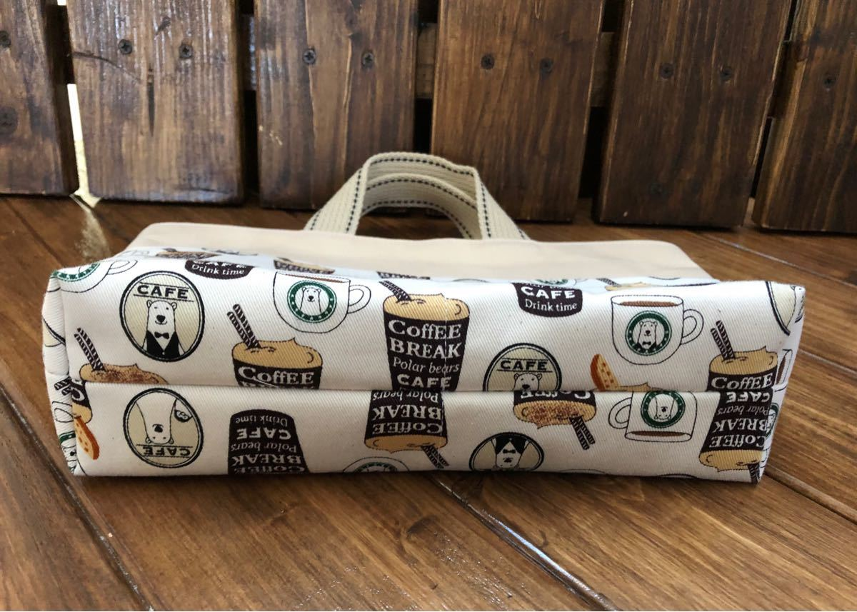 バッグインバッグ しろくまcafe風 ミニトート ミニバッグ