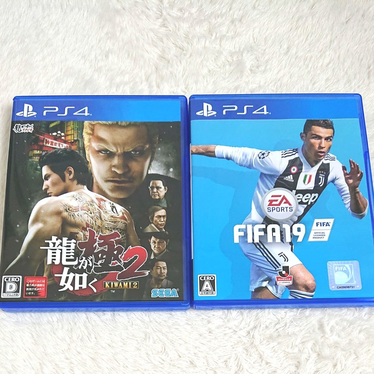 PS4 龍が如く極2 FIFA19 2本セット