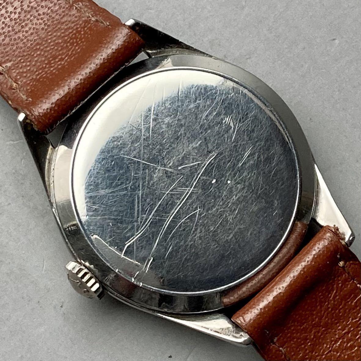 動作良好★ロンジン アンティーク 腕時計 1950年代 メンズ 手巻き cal.12.68Z ケース径33㎜ LONGINES ビンテージ ウォッチ 男性 スイス_画像7