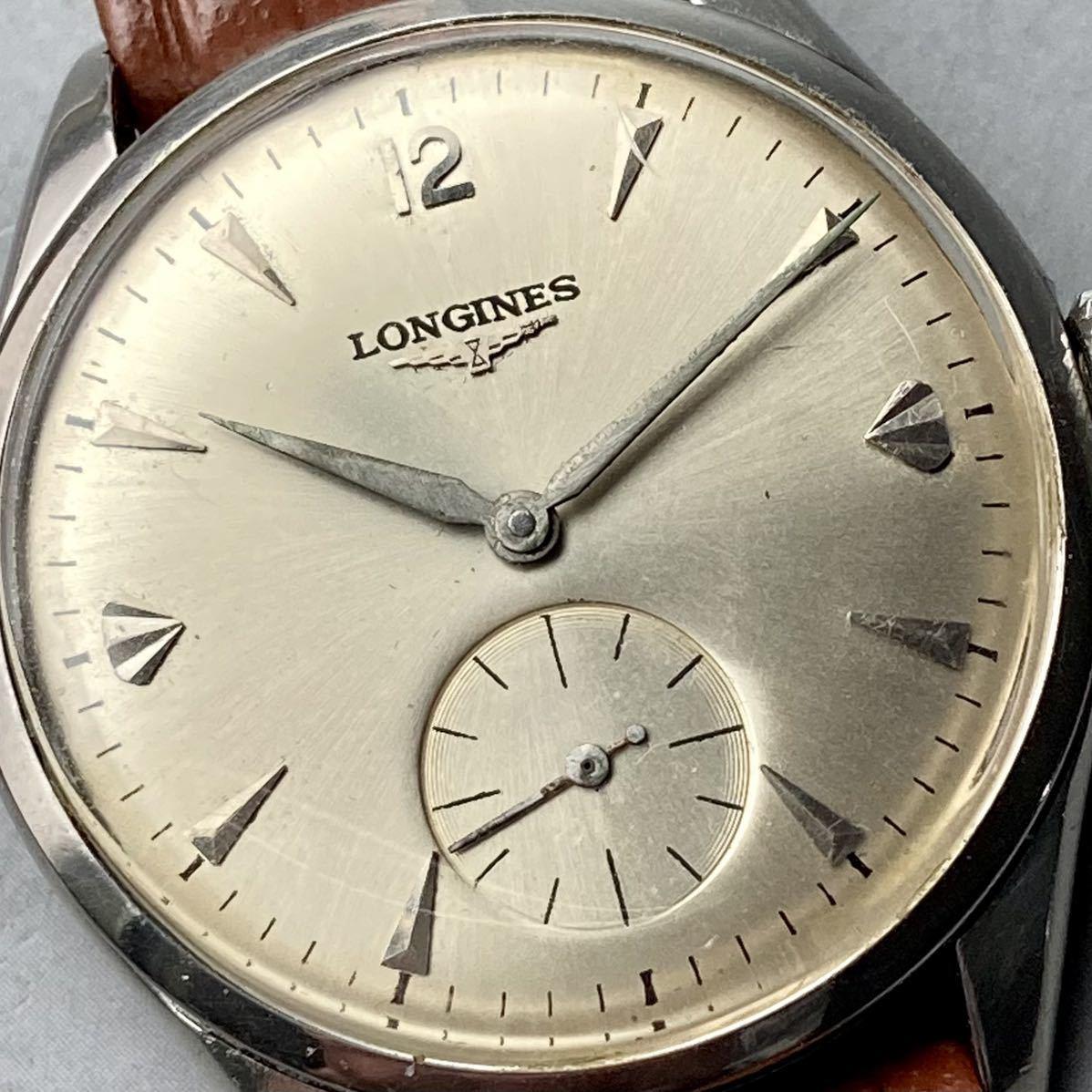 動作良好★ロンジン アンティーク 腕時計 1950年代 メンズ 手巻き cal.12.68Z ケース径33㎜ LONGINES ビンテージ ウォッチ 男性 スイス_画像3