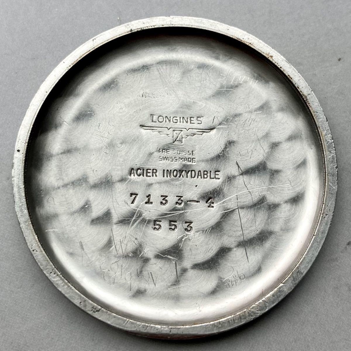 動作良好★ロンジン アンティーク 腕時計 1950年代 メンズ 手巻き cal.12.68Z ケース径33㎜ LONGINES ビンテージ ウォッチ 男性 スイス_画像9