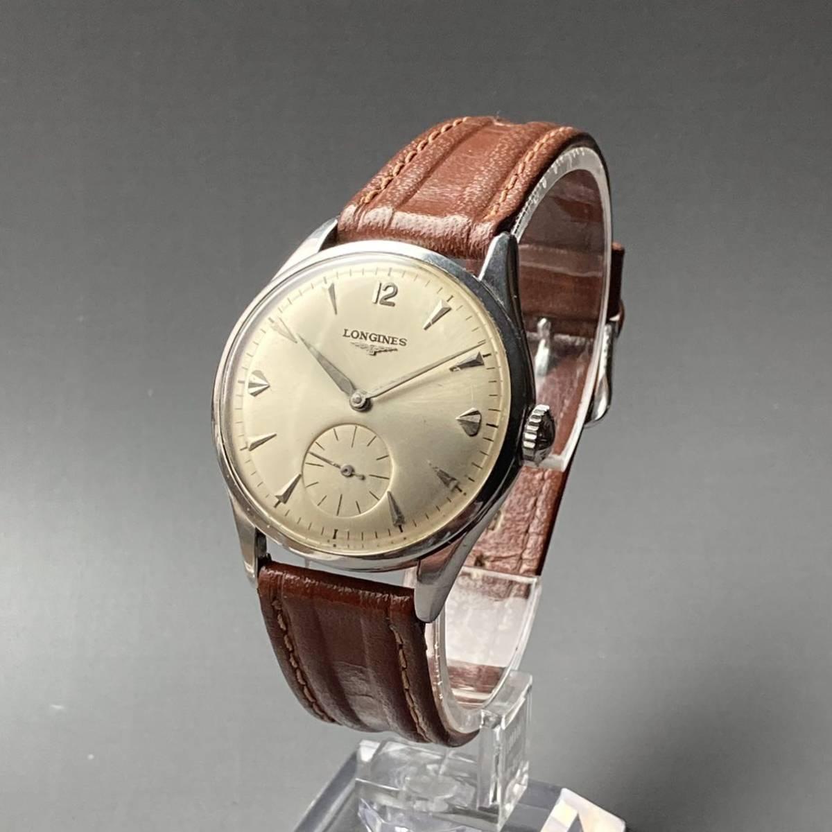 動作良好★ロンジン アンティーク 腕時計 1950年代 メンズ 手巻き cal.12.68Z ケース径33㎜ LONGINES ビンテージ ウォッチ 男性 スイス_画像2