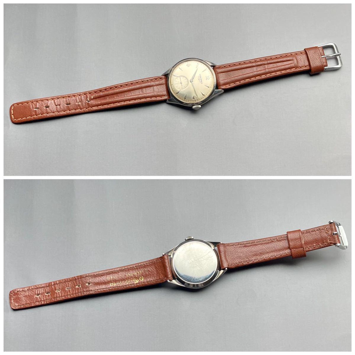 動作良好★ロンジン アンティーク 腕時計 1950年代 メンズ 手巻き cal.12.68Z ケース径33㎜ LONGINES ビンテージ ウォッチ 男性 スイス_画像6