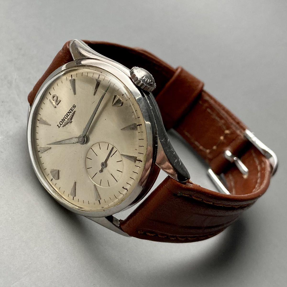 動作良好★ロンジン アンティーク 腕時計 1950年代 メンズ 手巻き cal.12.68Z ケース径33㎜ LONGINES ビンテージ ウォッチ 男性 スイス_画像5