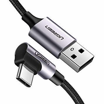 UGREEN USB Type C ケーブル L字ナイロン編み 3A急速充電 56Kレジスタ実装 2m_画像1