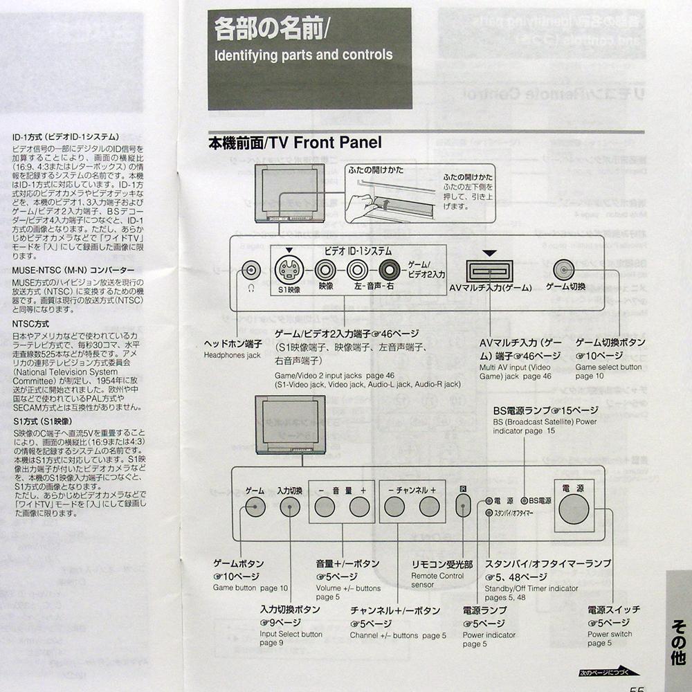 ■取扱説明書◆SONY『カラーテレビ トリニトロン VEGA』KV-21DS1 1999年 送料無料_画像8