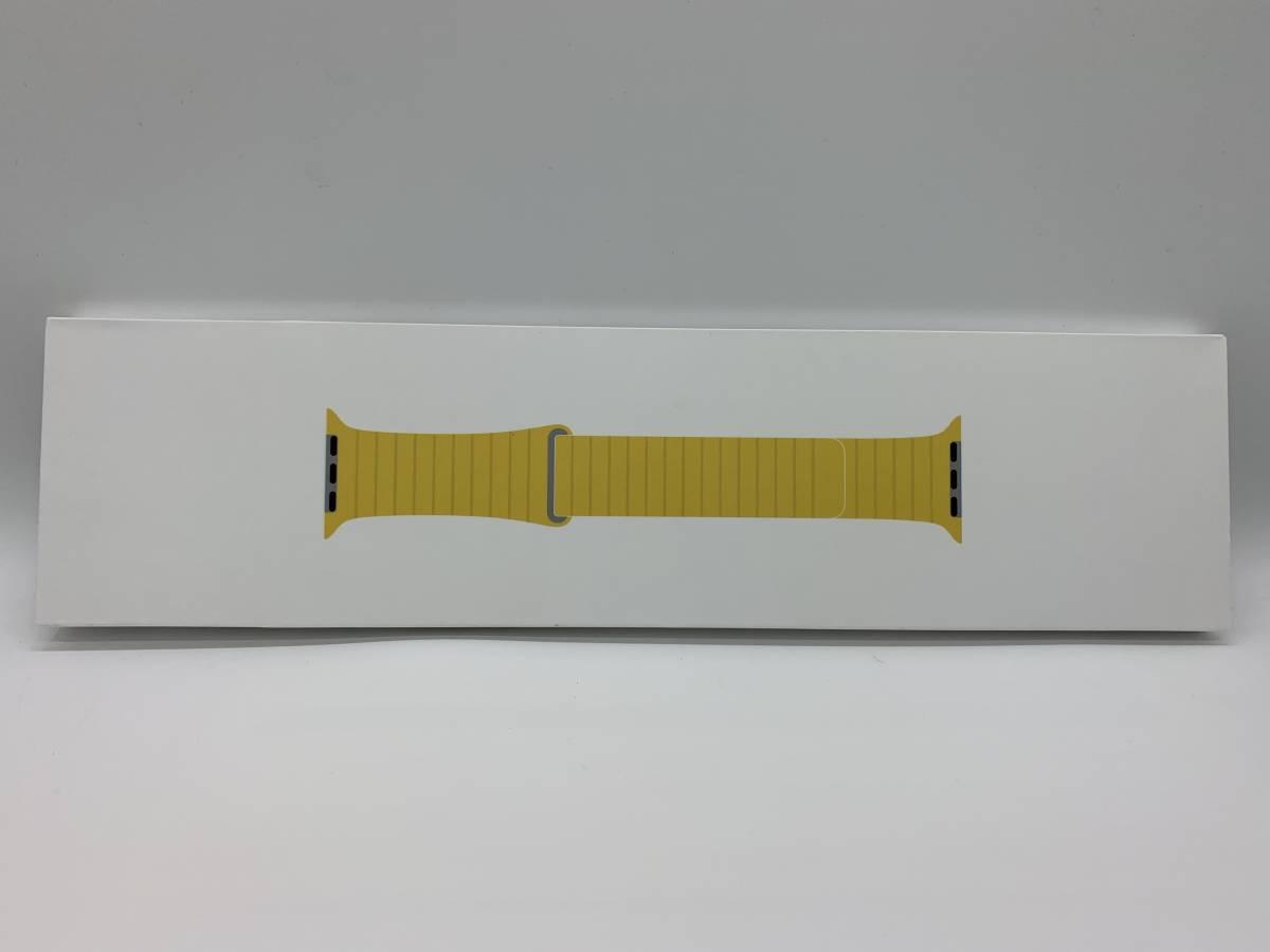 送料無料 新品未開封品 apple watch純正品バンド 42mm/44mmケース用 MXAE2FE/A マイヤーレモンレザーループ サイズL アップル正規品_画像1