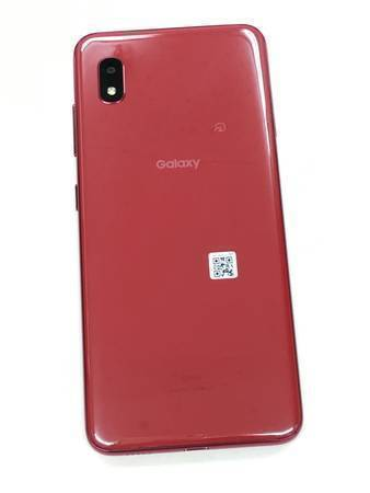 【1円スタート】新品同様 SIMロック解除済(SIMフリー) au Galaxy A20 SCV46 Red レッド 赤 本体 美品_画像3