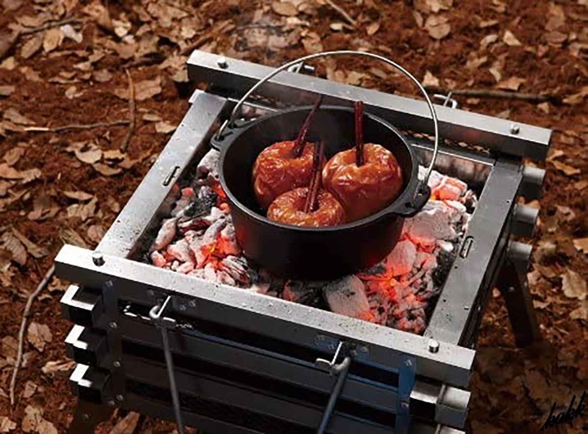 【すぐに使える】 リッドリフター 収納ケース付き 鋳鉄製ダッチオーブン シーズニング不要 調理 アウトドア キャンプ BBQ コールマン