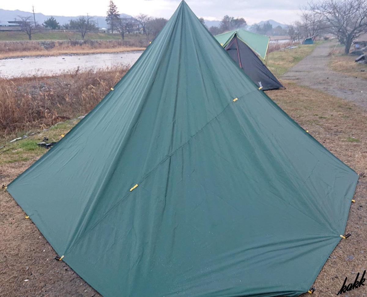 【防水 天幕シェード】 グリーン 300×400cm タープ 紫外線カット 遮光 日差し防止 軽量 コンパクト キャンプ道具 アウトドア ツーリング