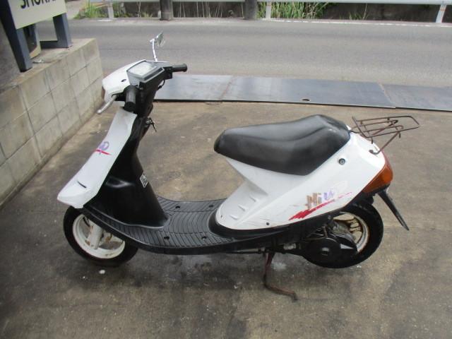 「▲7817▲スズキ ハイアップ (HI-UP) CA1DA ホワイト 旧車スクーター 実働 愛知」の画像2