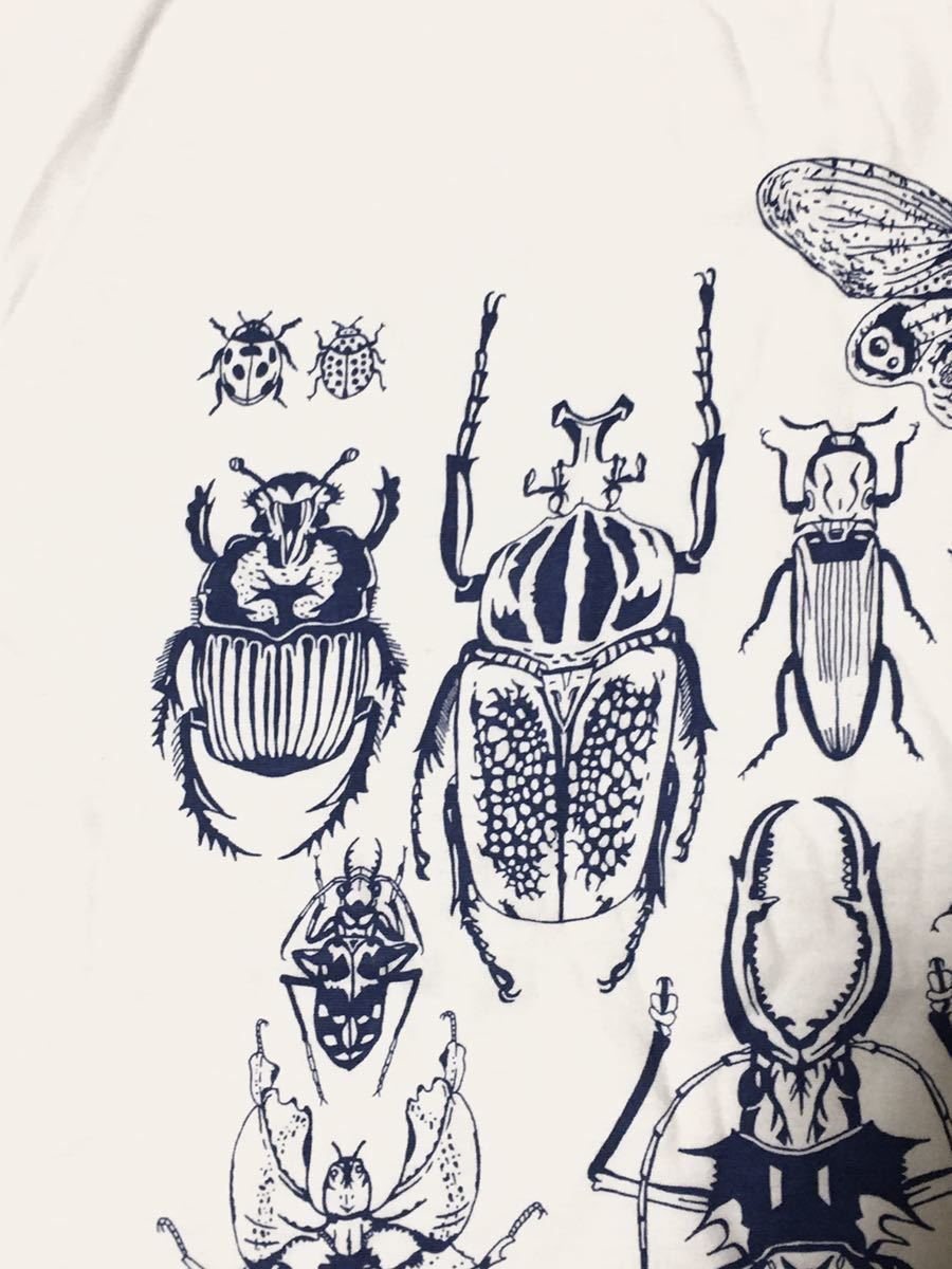 特価 世界の昆虫 標本Tシャツ  Lサイズ aroundaglobe 甲虫 珍虫 クワガタ カブトムシ 怪虫 オオキバウスバカミキリ コノハムシ_画像4