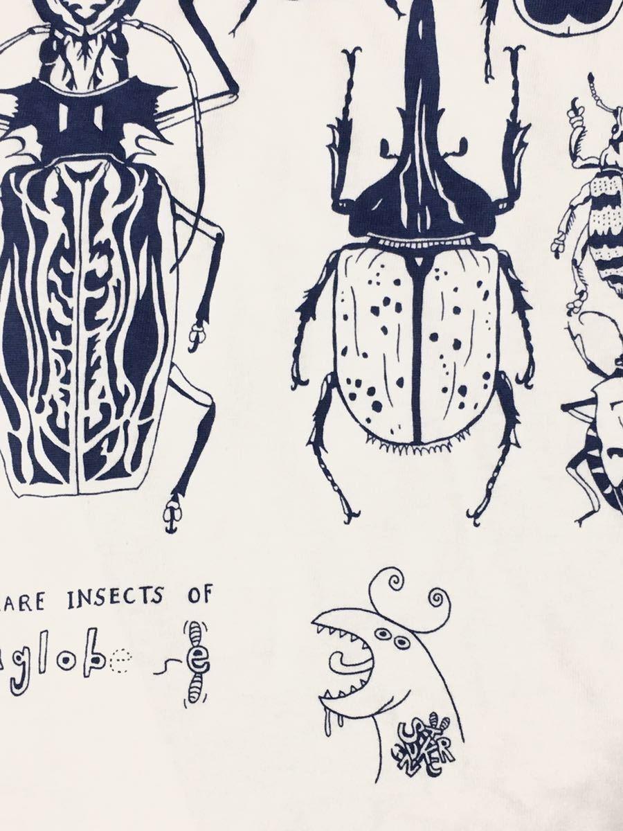 特価 世界の昆虫 標本Tシャツ  Lサイズ aroundaglobe 甲虫 珍虫 クワガタ カブトムシ 怪虫 オオキバウスバカミキリ コノハムシ_画像7