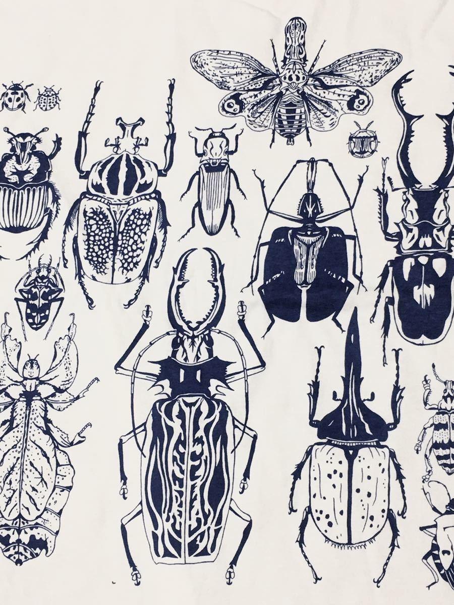 特価 世界の昆虫 標本Tシャツ  Lサイズ aroundaglobe 甲虫 珍虫 クワガタ カブトムシ 怪虫 オオキバウスバカミキリ コノハムシ_画像5