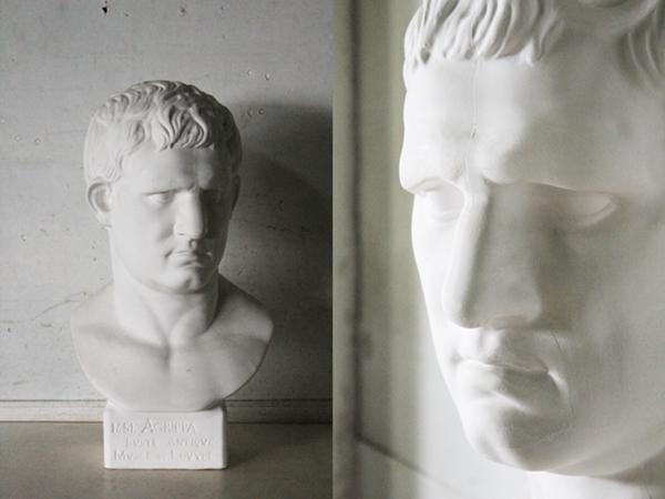 TB526石膏像 西洋彫刻 ACRIPPA/アグリッパ 高さ59.8cm◇デッサン用/像/美術彫刻/芸術/アート/アトリエ/オブジェ/置物/古道具タグボート_画像1