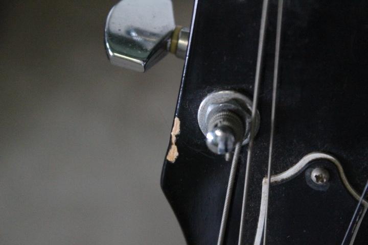 TB526エドワーズ EDWARDS エレキギター パープル◇ソフトケース/ESP/本体/通電確認済み/音楽/弦楽器/趣味/レスポール?/古道具タグボート_画像6