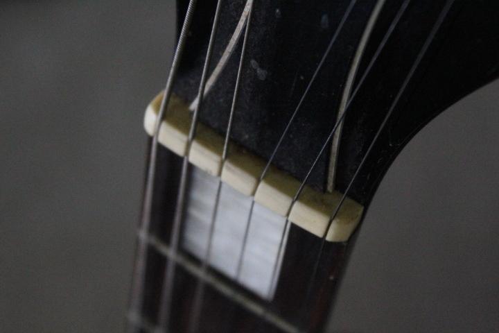 TB526エドワーズ EDWARDS エレキギター パープル◇ソフトケース/ESP/本体/通電確認済み/音楽/弦楽器/趣味/レスポール?/古道具タグボート_画像7