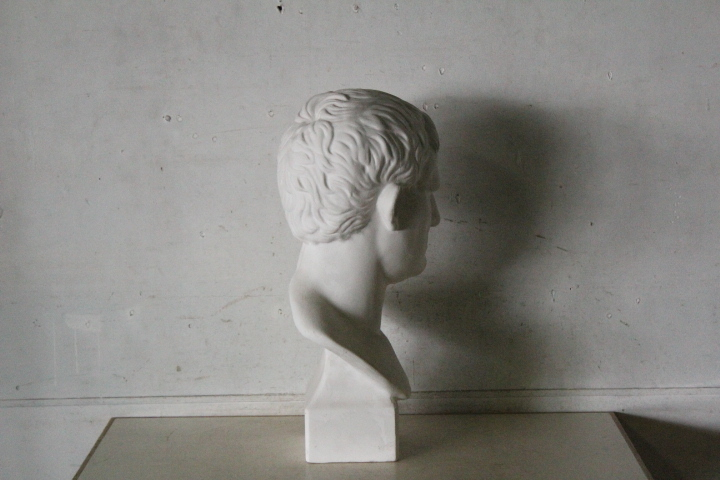TB526石膏像 西洋彫刻 ACRIPPA/アグリッパ 高さ59.8cm◇デッサン用/像/美術彫刻/芸術/アート/アトリエ/オブジェ/置物/古道具タグボート_画像5