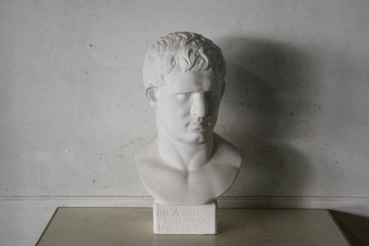 TB526石膏像 西洋彫刻 ACRIPPA/アグリッパ 高さ59.8cm◇デッサン用/像/美術彫刻/芸術/アート/アトリエ/オブジェ/置物/古道具タグボート_画像2