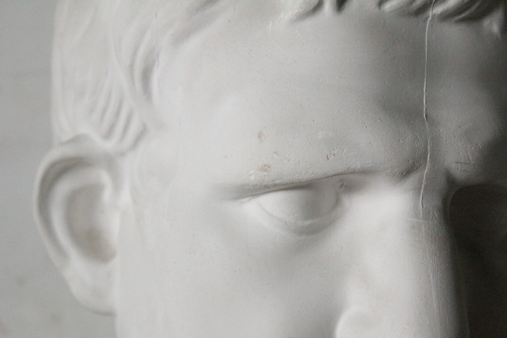 TB526石膏像 西洋彫刻 ACRIPPA/アグリッパ 高さ59.8cm◇デッサン用/像/美術彫刻/芸術/アート/アトリエ/オブジェ/置物/古道具タグボート_画像8