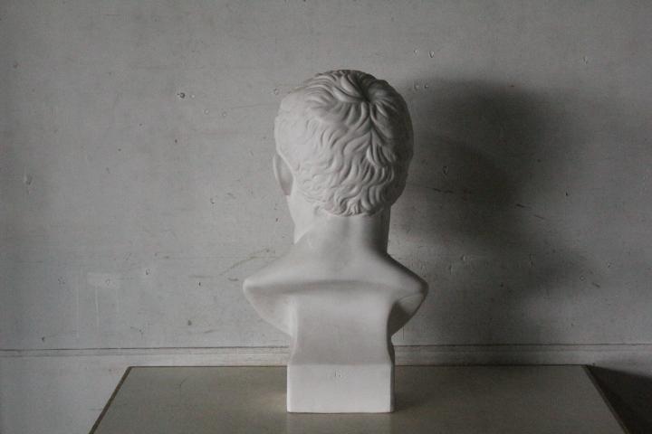 TB526石膏像 西洋彫刻 ACRIPPA/アグリッパ 高さ59.8cm◇デッサン用/像/美術彫刻/芸術/アート/アトリエ/オブジェ/置物/古道具タグボート_画像4