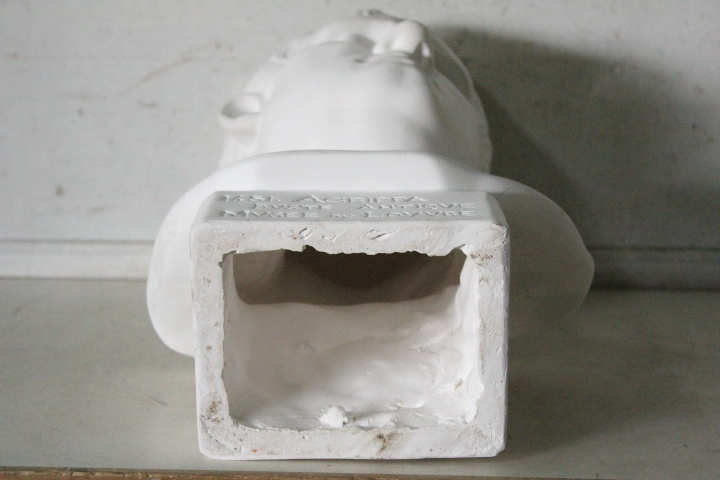 TB526石膏像 西洋彫刻 ACRIPPA/アグリッパ 高さ59.8cm◇デッサン用/像/美術彫刻/芸術/アート/アトリエ/オブジェ/置物/古道具タグボート_画像7