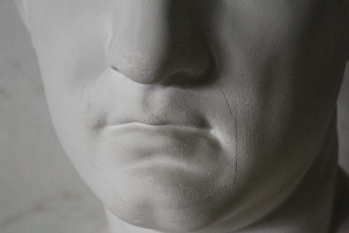 TB526石膏像 西洋彫刻 ACRIPPA/アグリッパ 高さ59.8cm◇デッサン用/像/美術彫刻/芸術/アート/アトリエ/オブジェ/置物/古道具タグボート_画像10