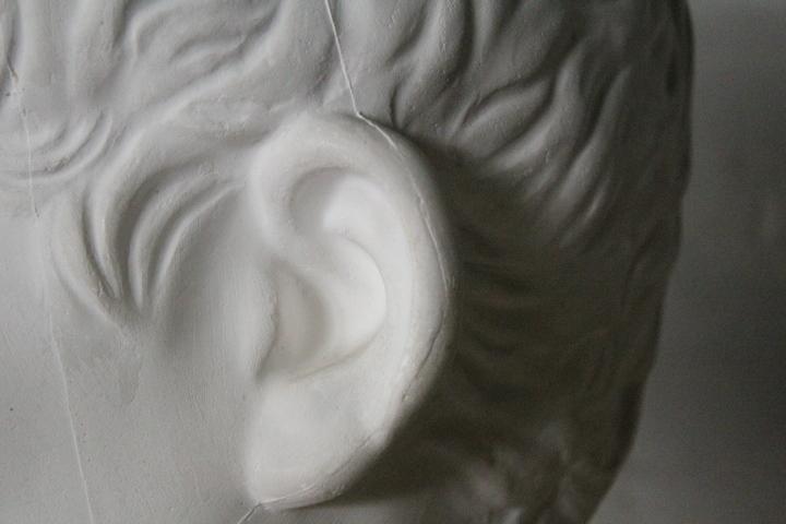 TB526石膏像 西洋彫刻 ACRIPPA/アグリッパ 高さ59.8cm◇デッサン用/像/美術彫刻/芸術/アート/アトリエ/オブジェ/置物/古道具タグボート_画像9