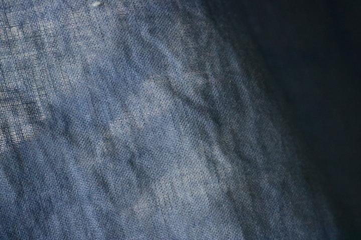 TB526藍染 木綿製 古布 189×153cm◇ボロ/布団皮/カバー/襤褸/裁縫/和裁/リメイク/素材/布地/被服/敷物/掛物/継接ぎ/古道具タグボート_画像3