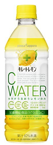 ポッカサッポロ キレートレモンCウォーター(栄養機能食品(ビタミンC)) 500ml×24本_画像1