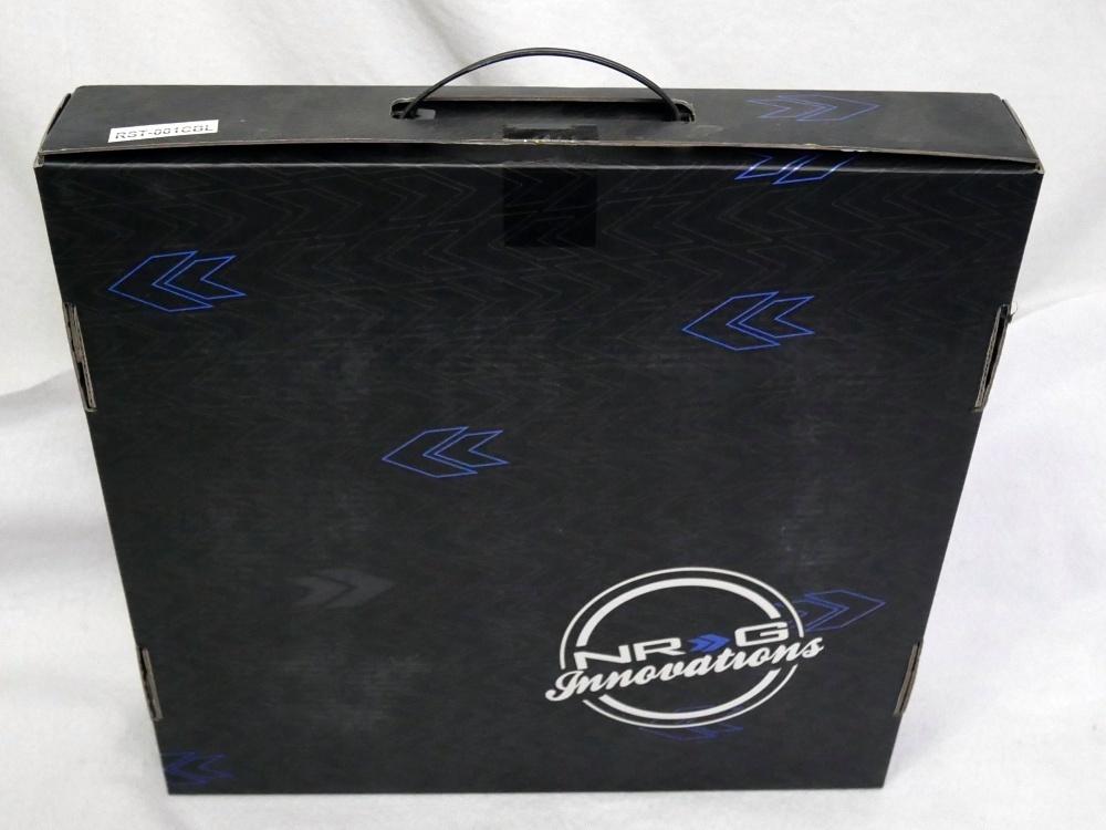 NRG ステアリングホイール RST-001CBL 320mm ブラックレザー&カーボンルックコンビ、装着展示品_画像4