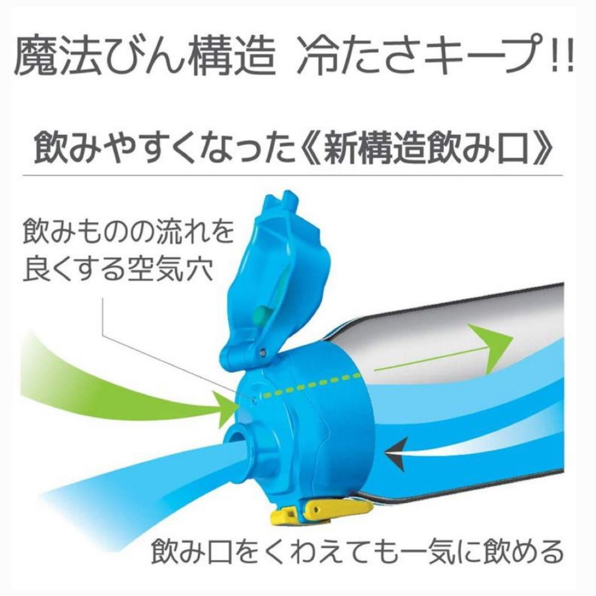 お値下げ。THERMOS サーモス 水筒 保冷専用 ワンタッチオープン 真空断熱スポーツボトル 1.5L  ブルーカモフラージュ
