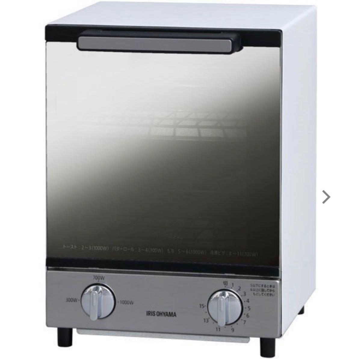 オーブントースター アイリスオーヤマ ミラーオーブントースター MOT-012 縦型