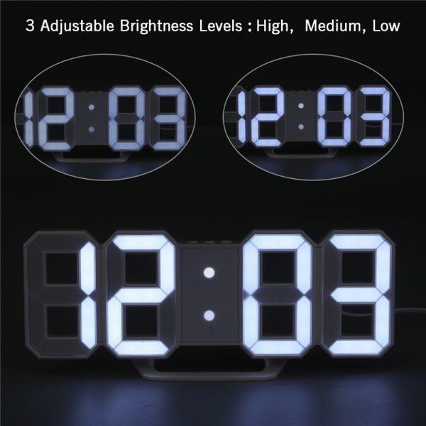 【激安】7 ☆ インテリア 壁掛け時計 デジタル ウォールクロック 選べる4色 LED Digital Numbers Wall Clock_画像1