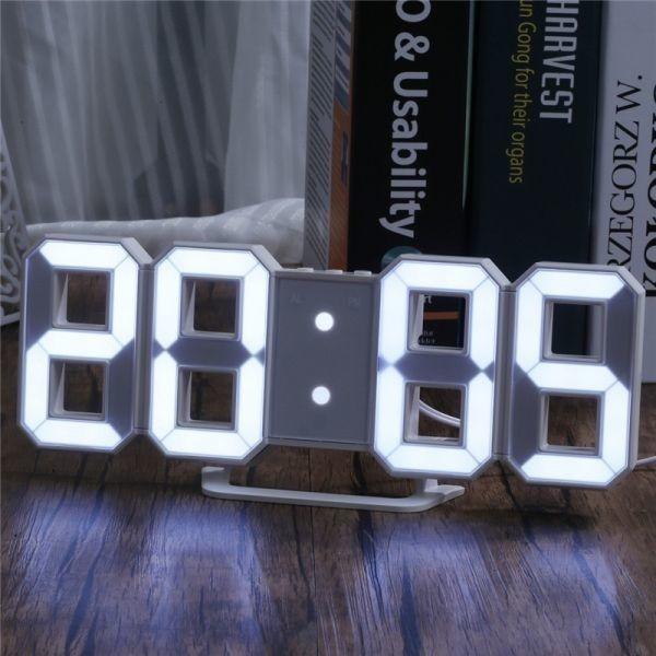 【激安】7 ☆ インテリア 壁掛け時計 デジタル ウォールクロック 選べる4色 LED Digital Numbers Wall Clock_画像2