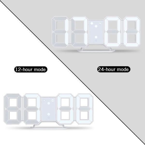 【激安】7 ☆ インテリア 壁掛け時計 デジタル ウォールクロック 選べる4色 LED Digital Numbers Wall Clock_画像10