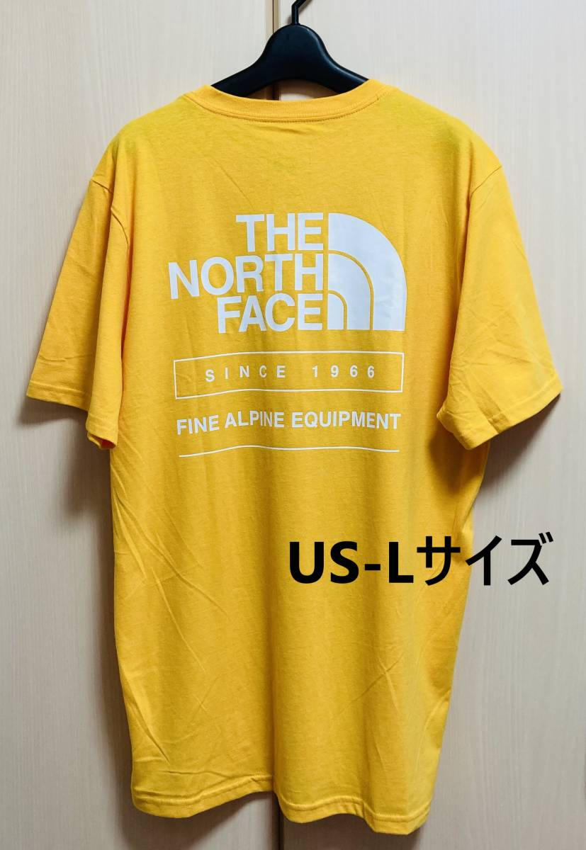 THE NORTH FACE ザ ノースフェイス Tシャツ メンズ イエロー USA規格Lサイズ ハーフドーム 黄色