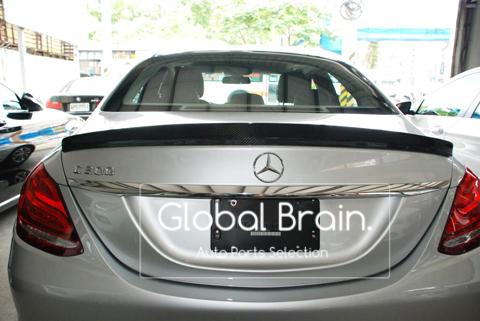 メルセデスベンツ Cクラス W205 カーボン リア トランク スポイラー / スプリッター ディフューザー バンパー トリム カバー ウイング_画像2