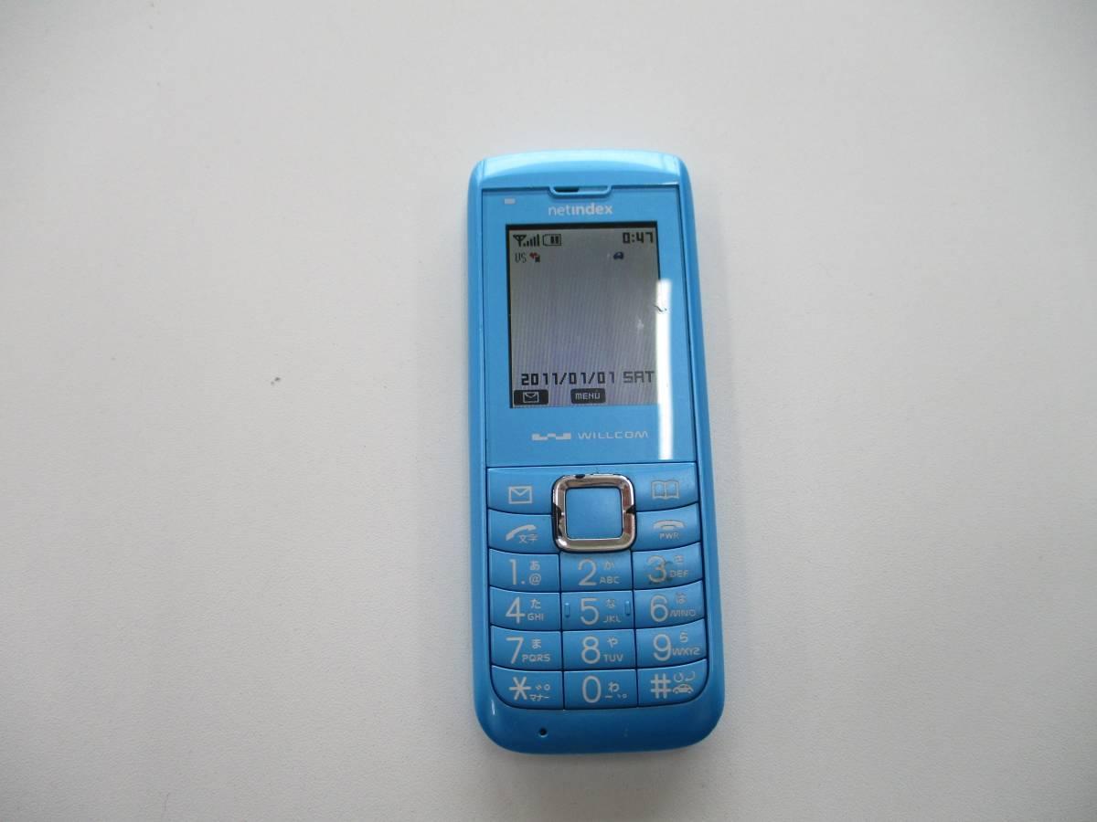 中古品 ウィルコム WX01NX 動作確認 済 携帯電話 PHS 千葉県 引き取り 可能 0円 _画像1