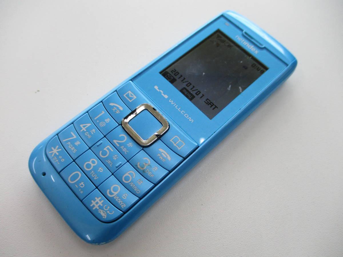 中古品 ウィルコム WX01NX 動作確認 済 携帯電話 PHS 千葉県 引き取り 可能 0円 _画像2