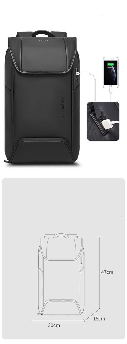 バックパック ビジネスリュック 盗難防止 PCバッグ USBポート USB充電 多機能 大容量