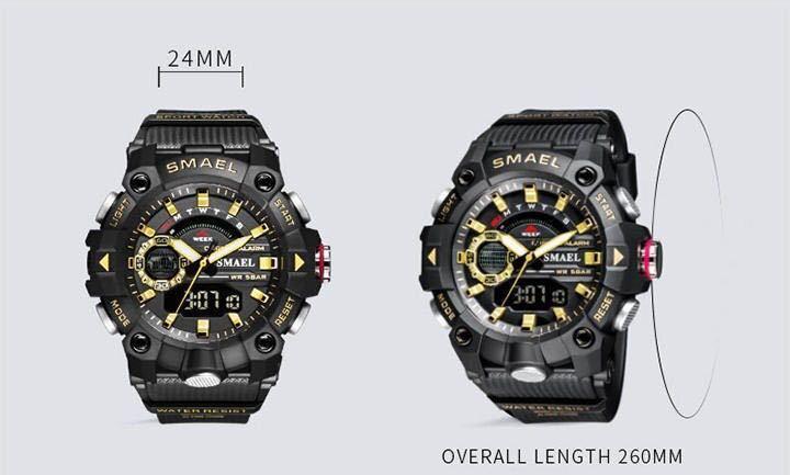 ◆ ミリタリー ウォッチ メンズ スポーツ 防水 腕時計 ストップウォッチ アラーム ledライト デジタル腕時計 メンズスポーツ時計 1740_画像7