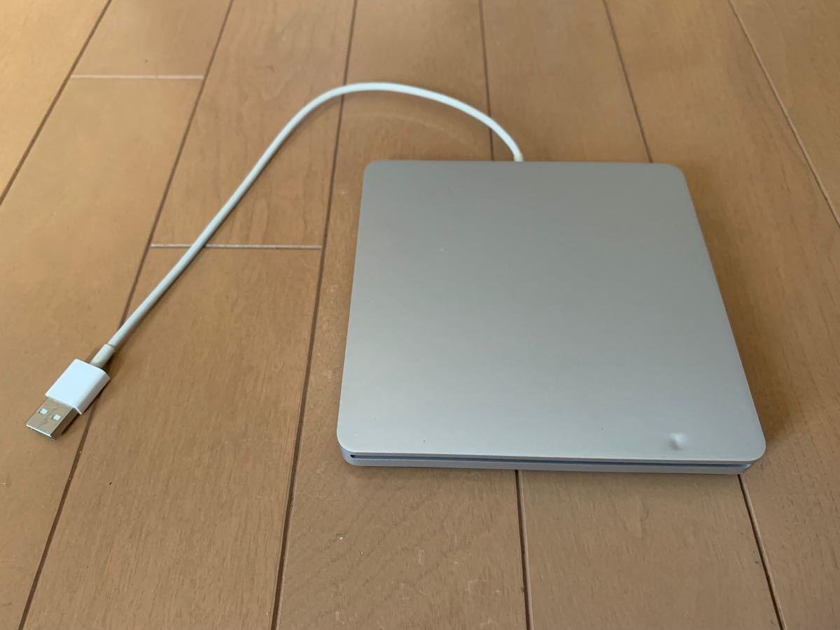 ジャンク品 アップル USB Super Drive MD564ZM/A 外付 DVDマルチドライブ シルバー Mac A1379