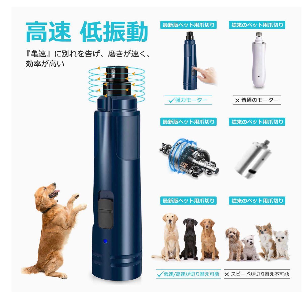 ペット爪切り 猫犬爪切り 中小型犬 ペット用つめきり LEDランプ ネイルトリマー 電池/爪収納カバー/爪やすり付き