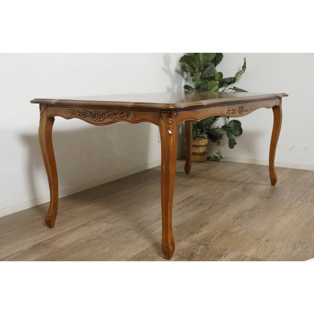送料無料【新品】英国風 フィオーレ ロココ調 ダイニング テーブル アウトレット 家具 SAC-1175-B3-175 G2298_画像1
