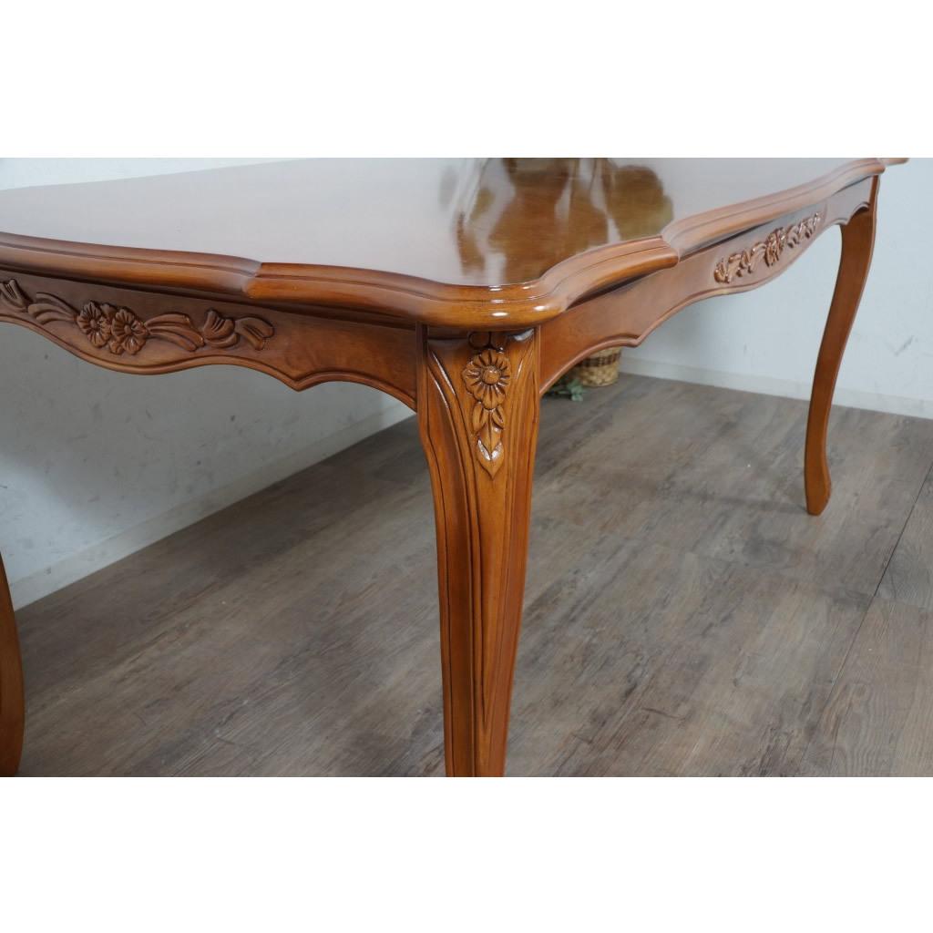 送料無料【新品】英国風 フィオーレ ロココ調 ダイニング テーブル アウトレット 家具 SAC-1175-B3-175 G2298_画像3
