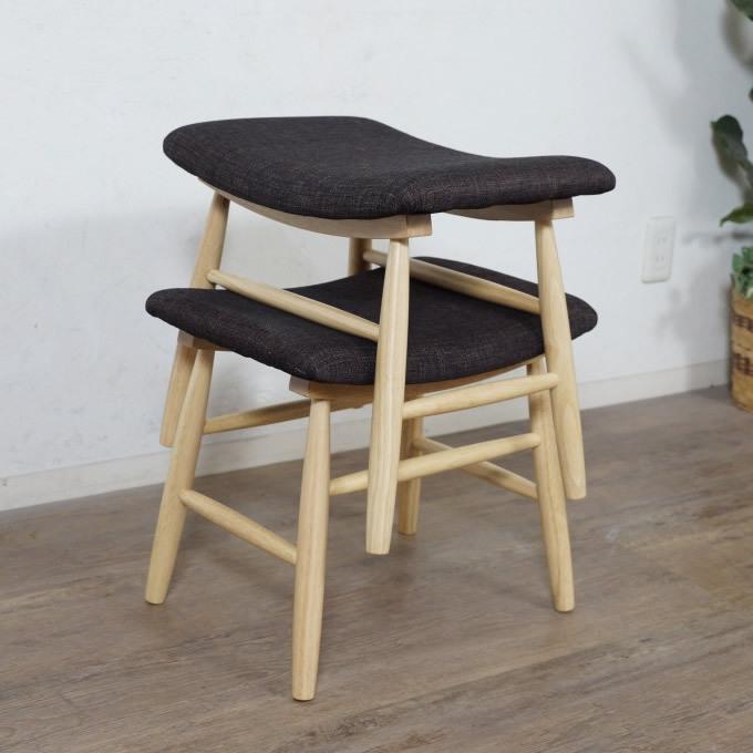送料無料【新品】2脚セット スタッキングスツール アウトレット チェア 椅子 FF2718_画像6