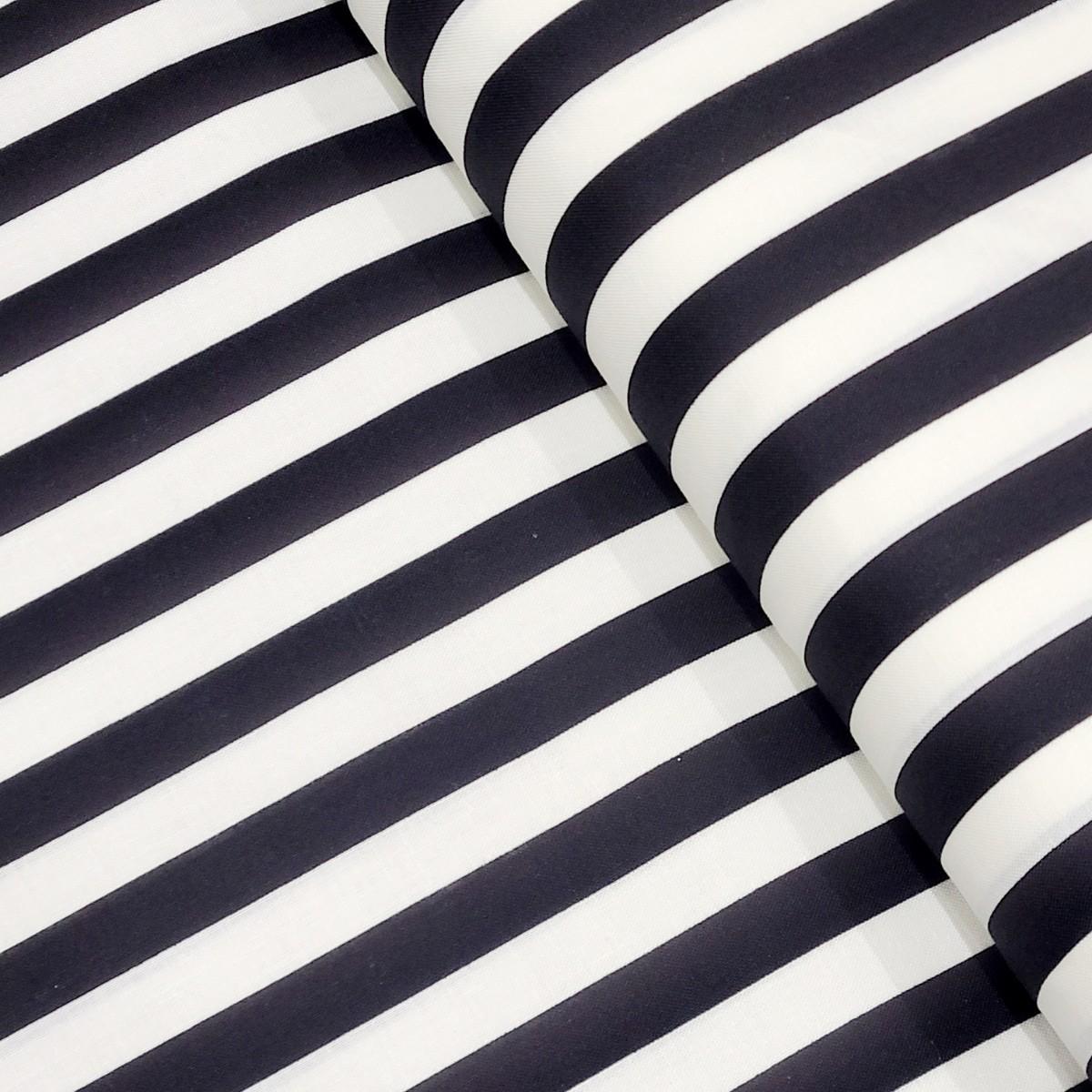 シーチング 生地 ストライプ 白 黒 はぎれ 約110㎝巾×約100㎝ ハギレ
