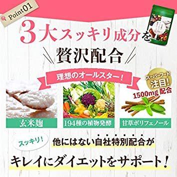30日分 90粒 1袋 ダイエット サプリメント 玄米麹とコンブチャの酵素クレンズ 生酵素 麹酵素 2億_画像3